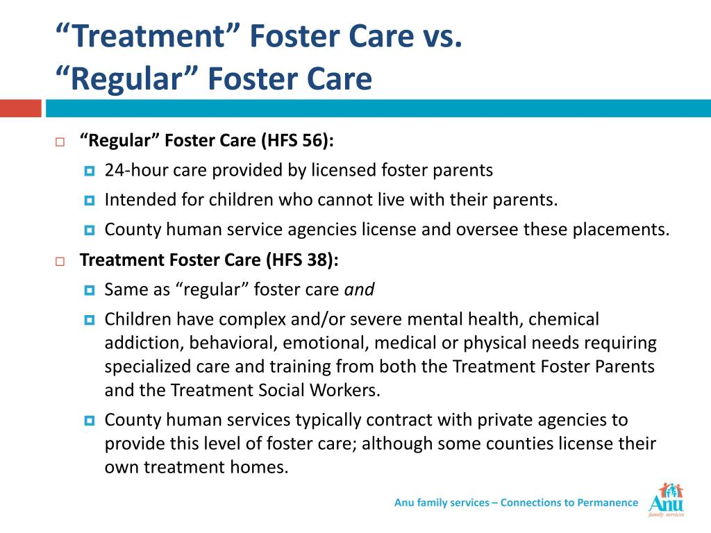 """Treatment"" Foster Care vs."