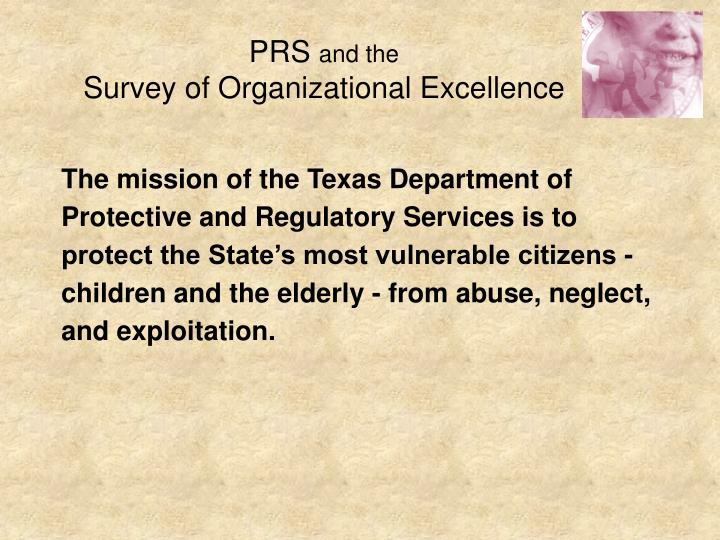 Prs and the survey of organizational excellence3