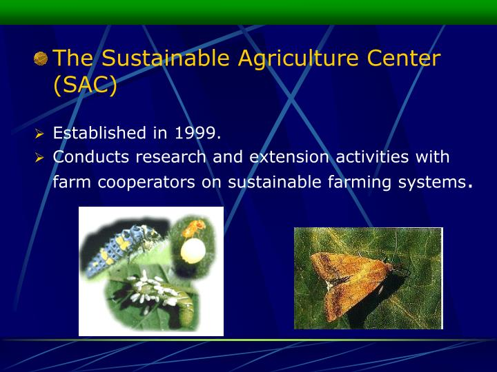 The Sustainable Agriculture Center (SAC)