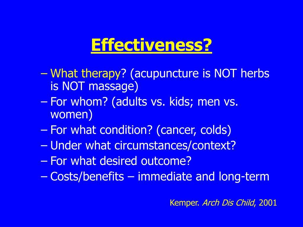 Effectiveness?
