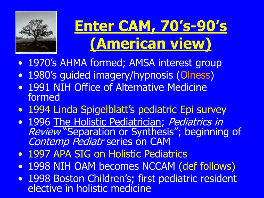 Enter CAM, 70's-90's