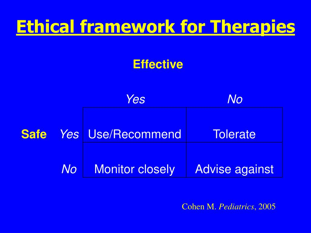 Ethical framework for Therapies