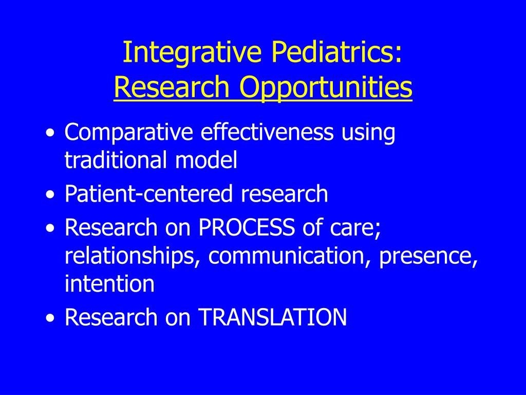 Integrative Pediatrics: