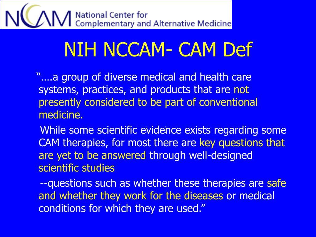 NIH NCCAM- CAM Def