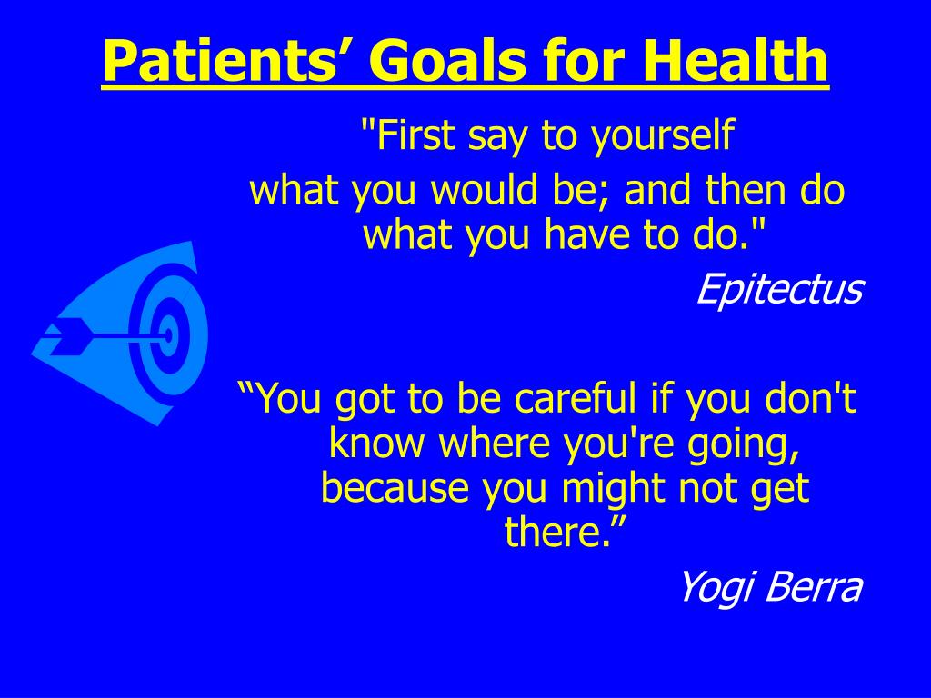 Patients' Goals for Health