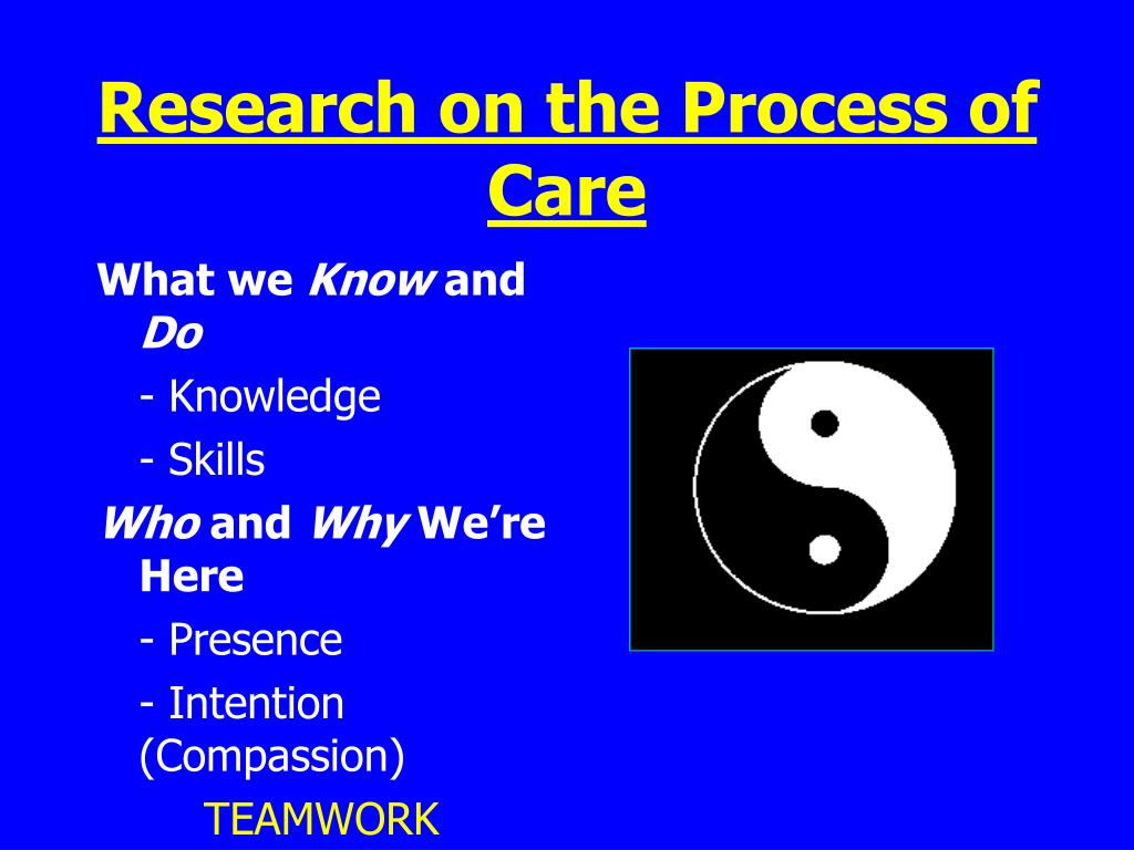 Research on the Process of Care
