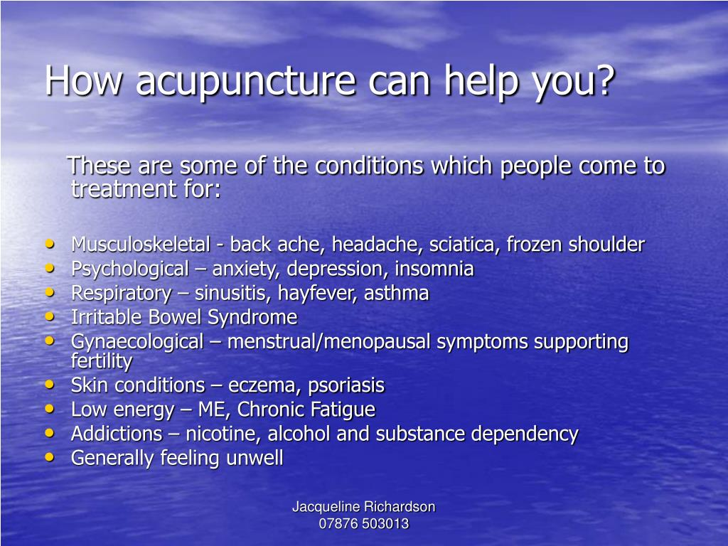 How acupuncture can help you?