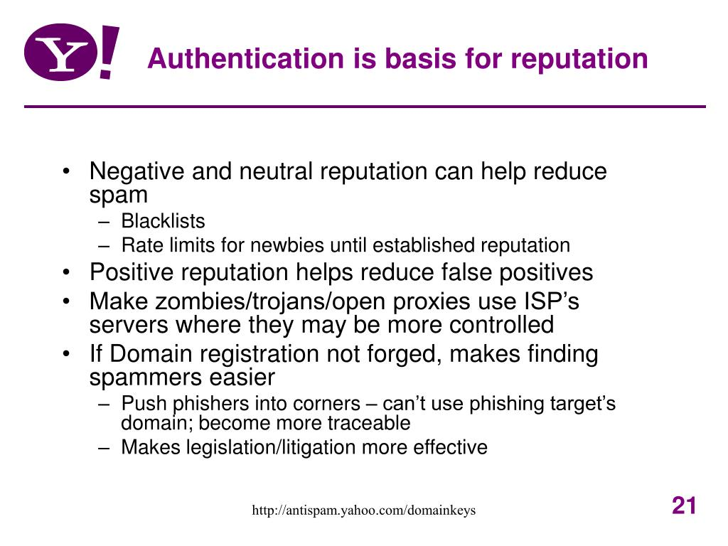 Authentication is basis for reputation