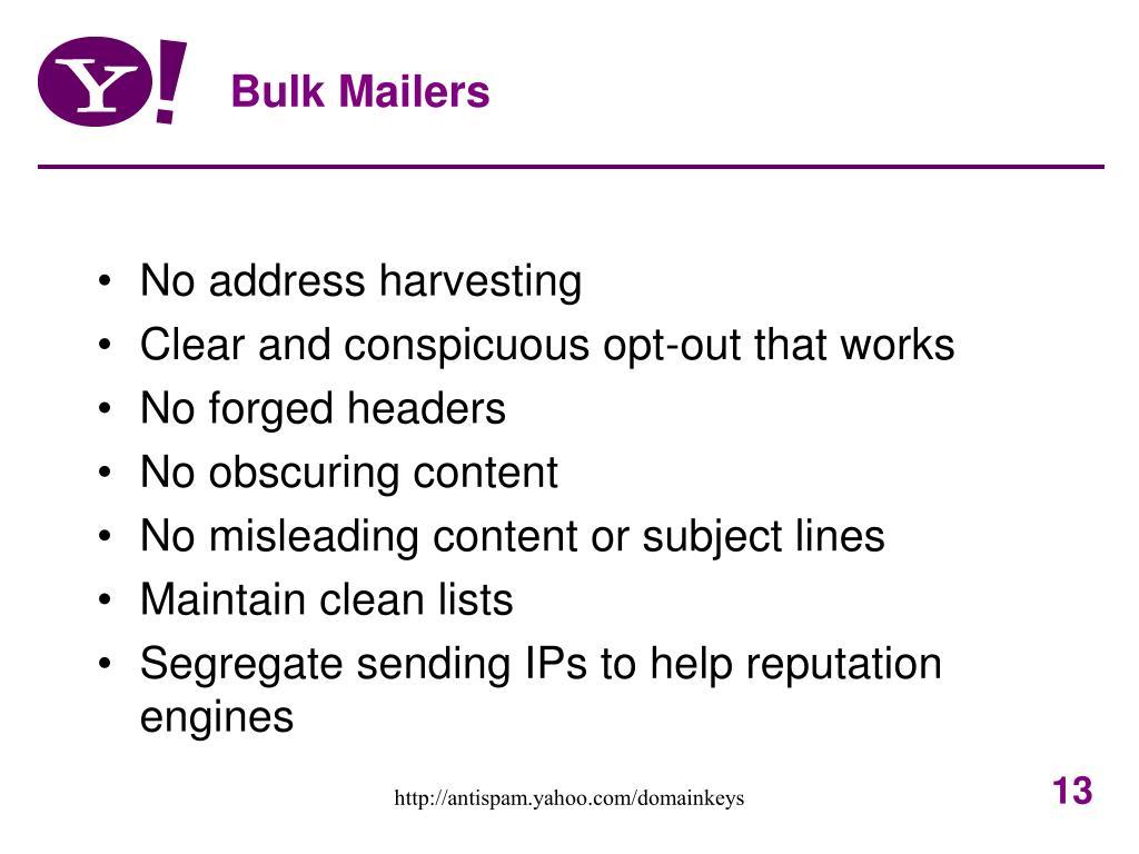 Bulk Mailers