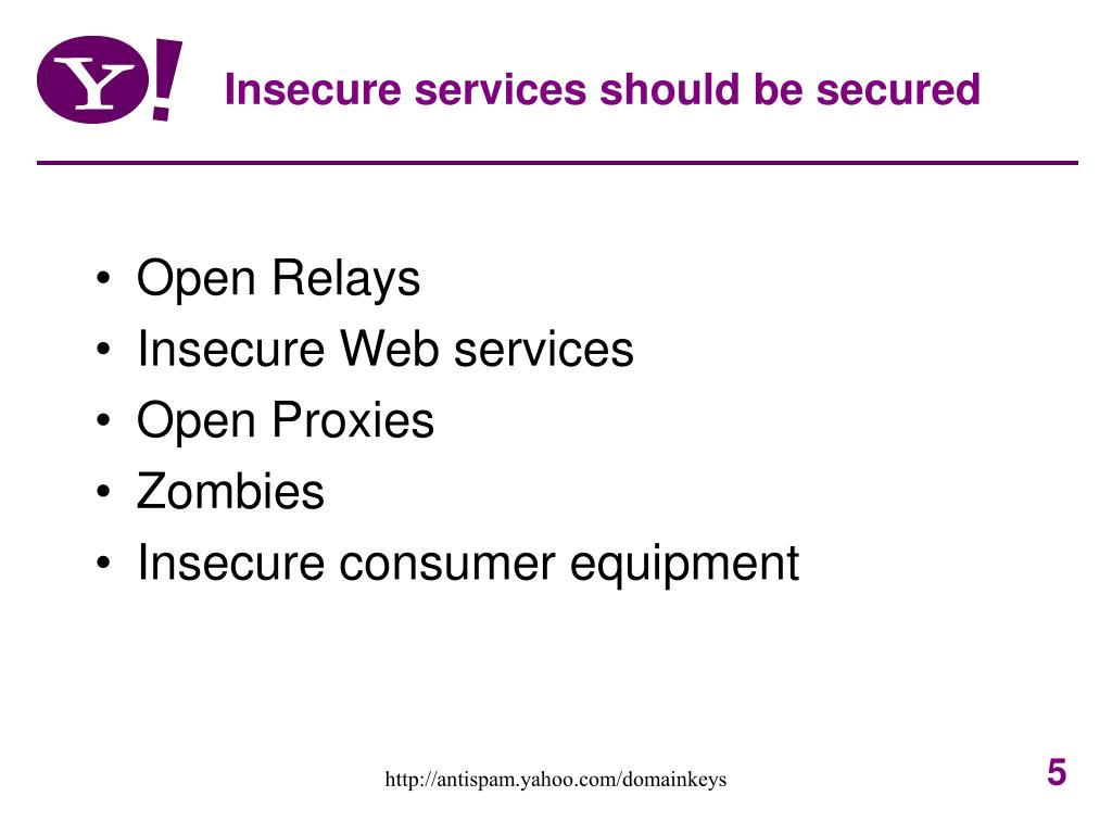 Insecure services should be secured