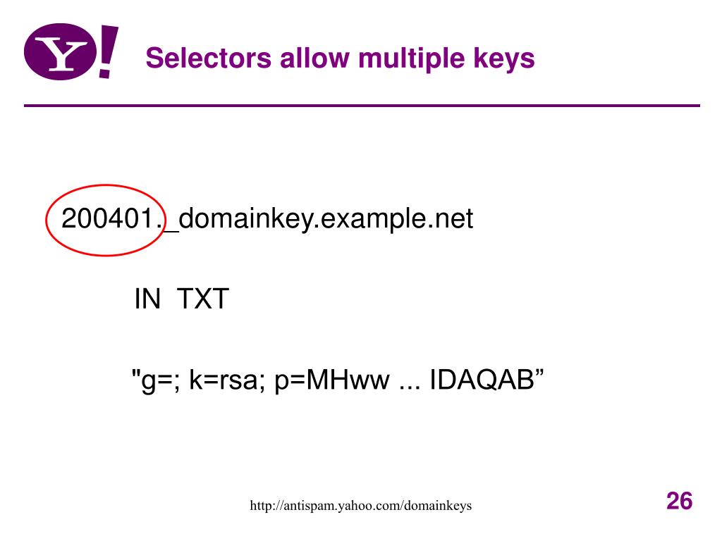 Selectors allow multiple keys