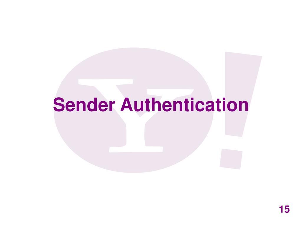 Sender Authentication