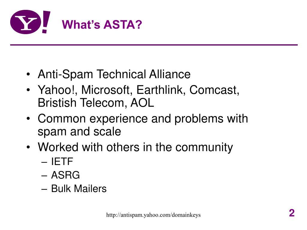 What's ASTA?