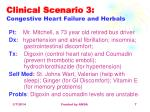 clinical scenario 3 congestive heart failure and herbals