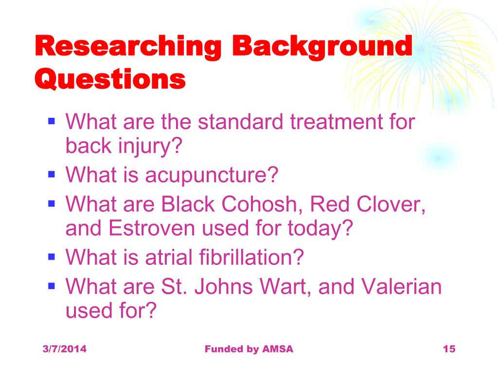 Researching Background Questions