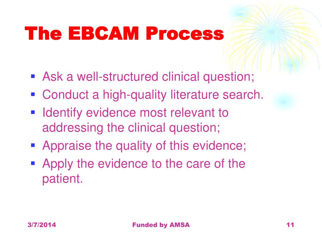 The EBCAM Process