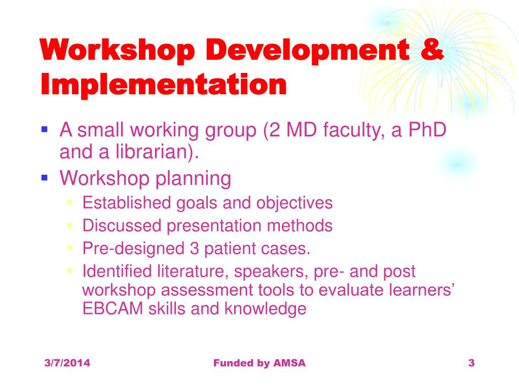 Workshop Development & Implementation
