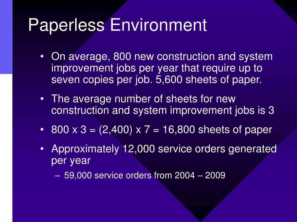 Paperless Environment