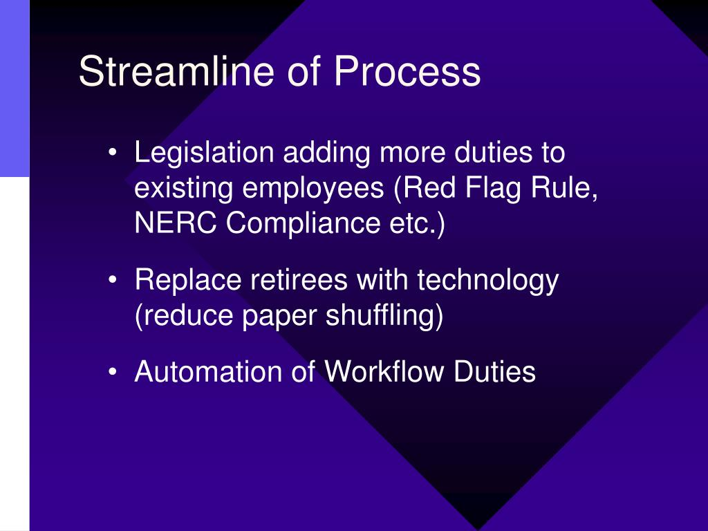 Streamline of Process
