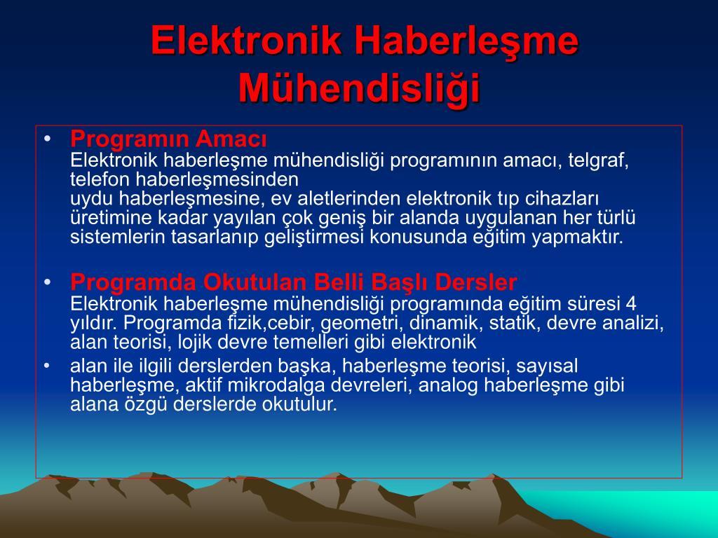 Elektronik Haberleşme Mühendisliği