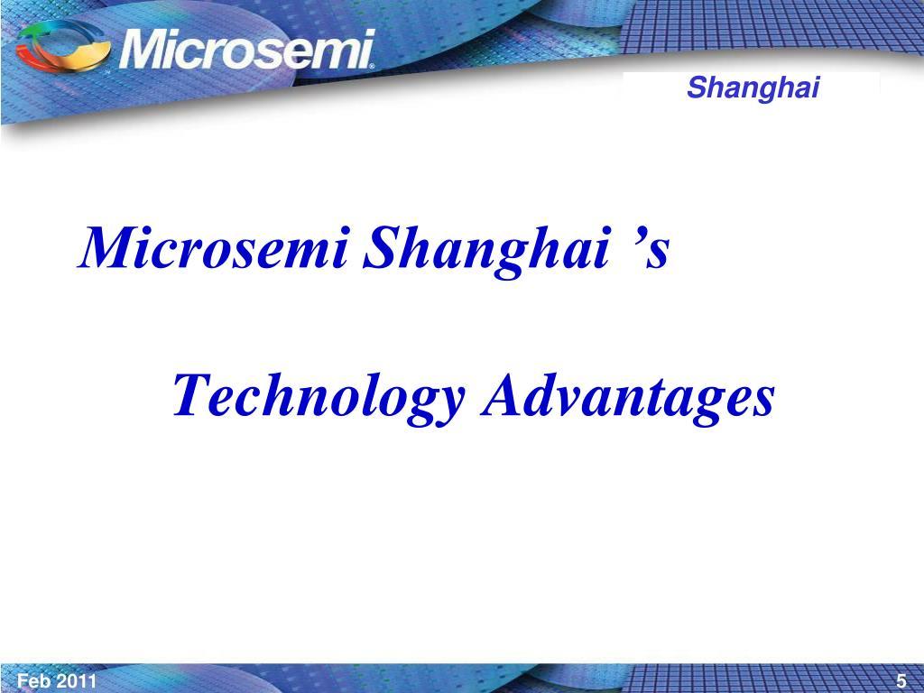 Microsemi Shanghai 's