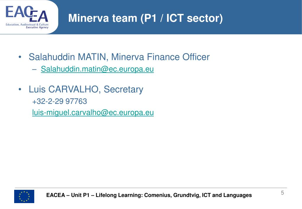 Minerva team (P1 / ICT sector)