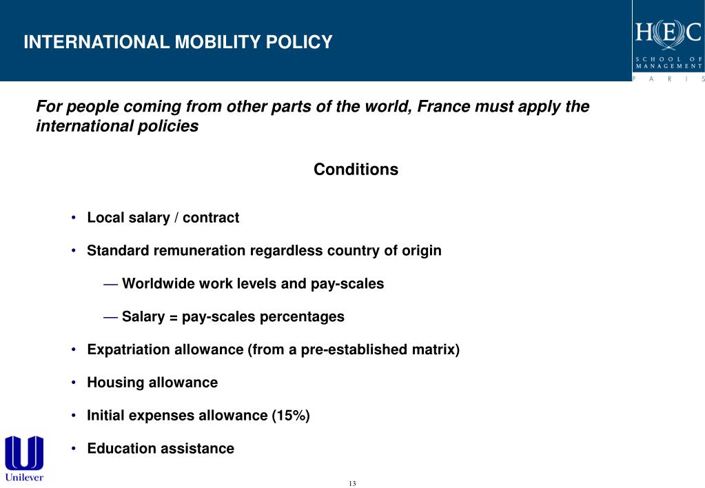 INTERNATIONAL MOBILITY POLICY