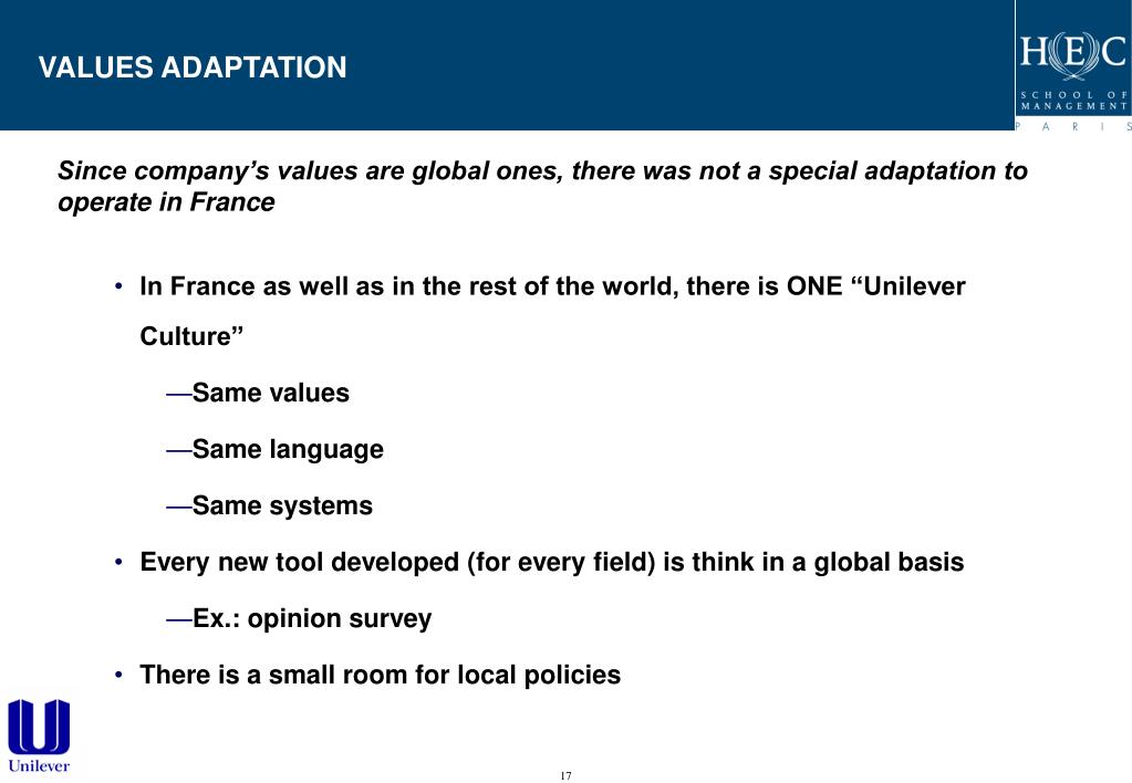 VALUES ADAPTATION