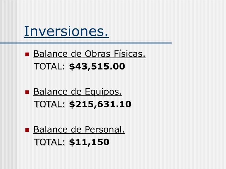 Inversiones.