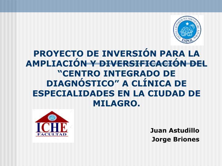 PROYECTO DE INVERSI