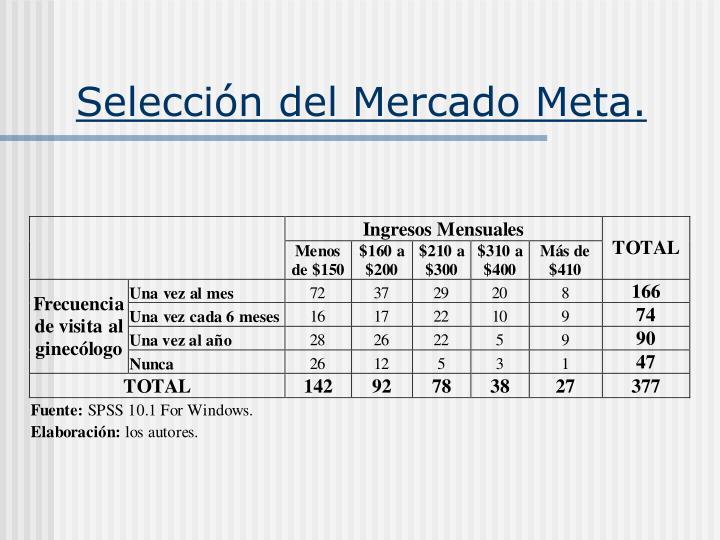 Selección del Mercado Meta.