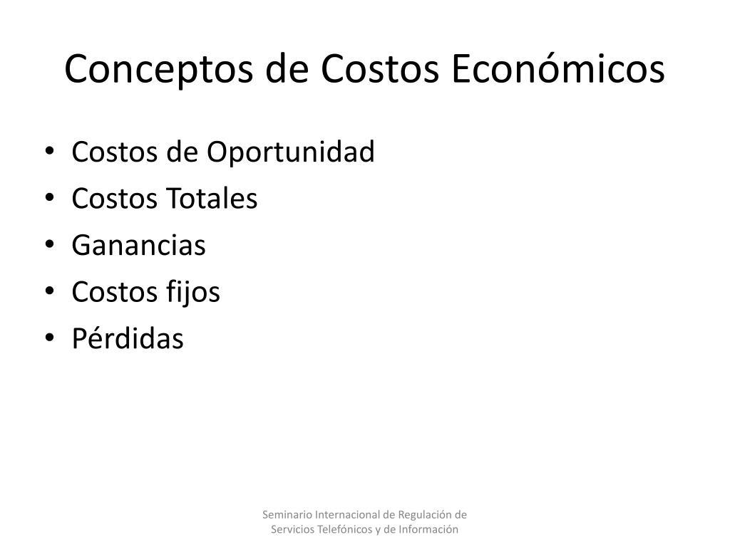 Conceptos de Costos Económicos