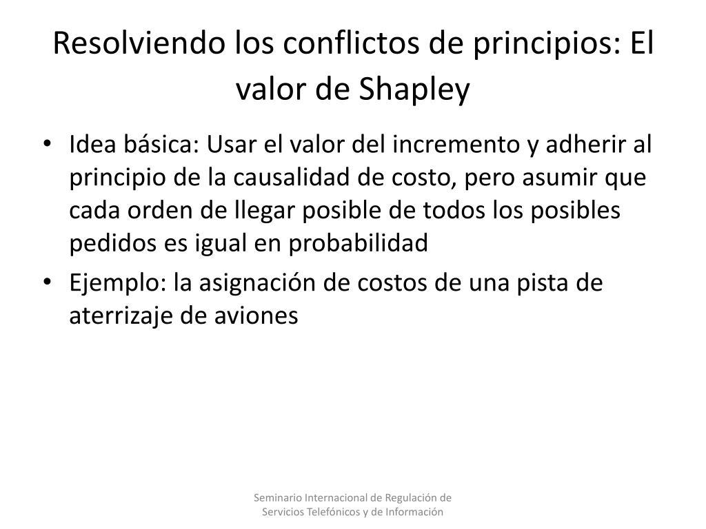Resolviendo los conflictos de principios: El valor de Shapley