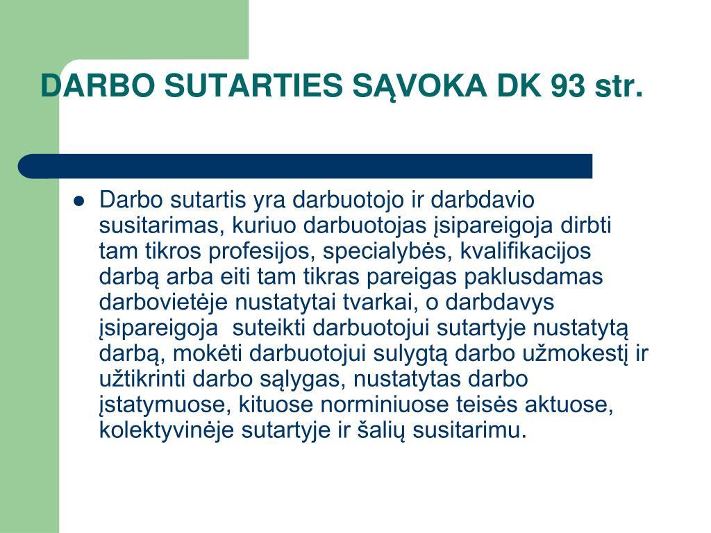 DARBO SUTARTIES S