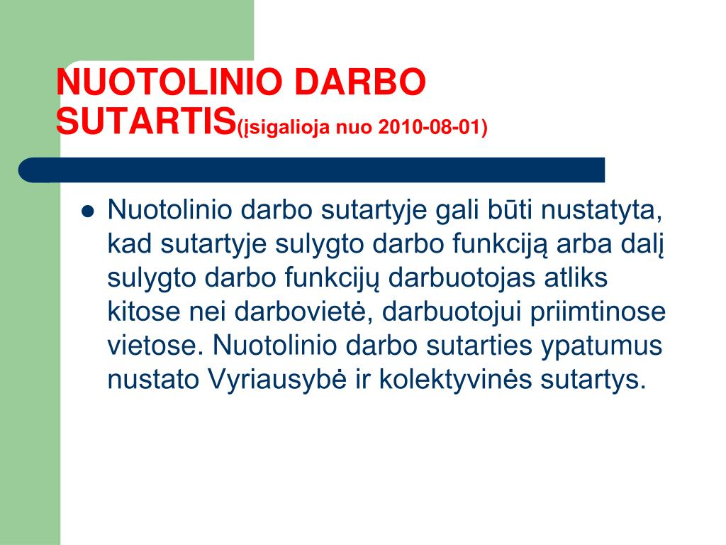 NUOTOLINIO DARBO SUTARTIS