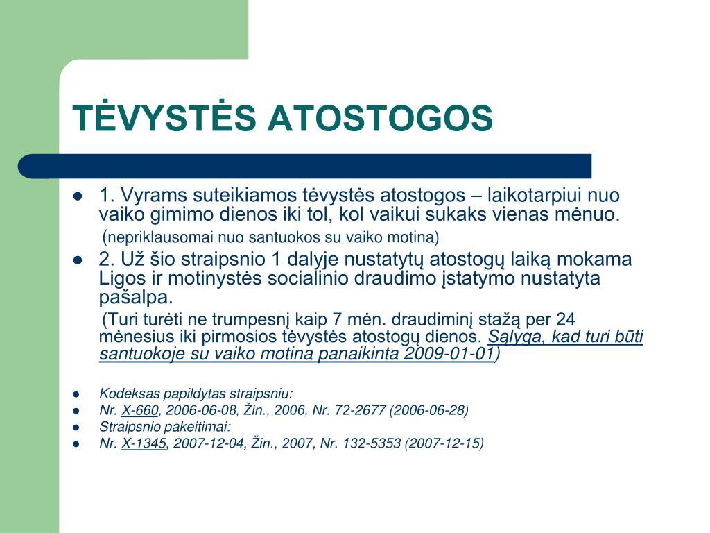 TĖVYSTĖS ATOSTOGOS