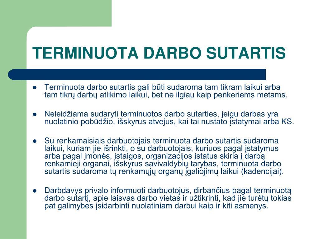 TERMINUOTA DARBO SUTARTIS