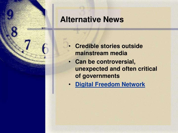 Alternative News