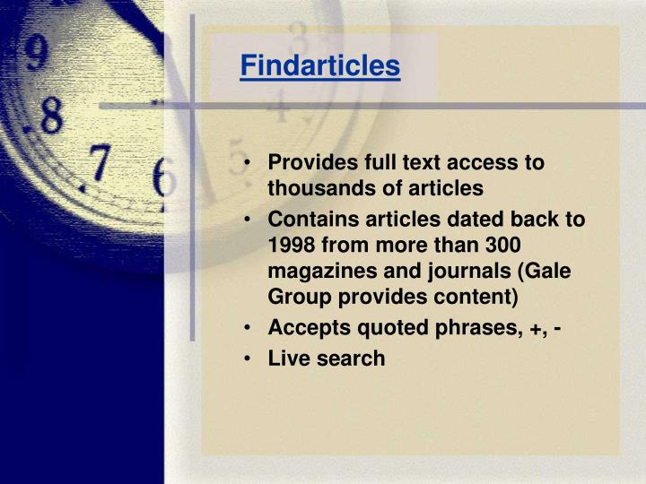Findarticles