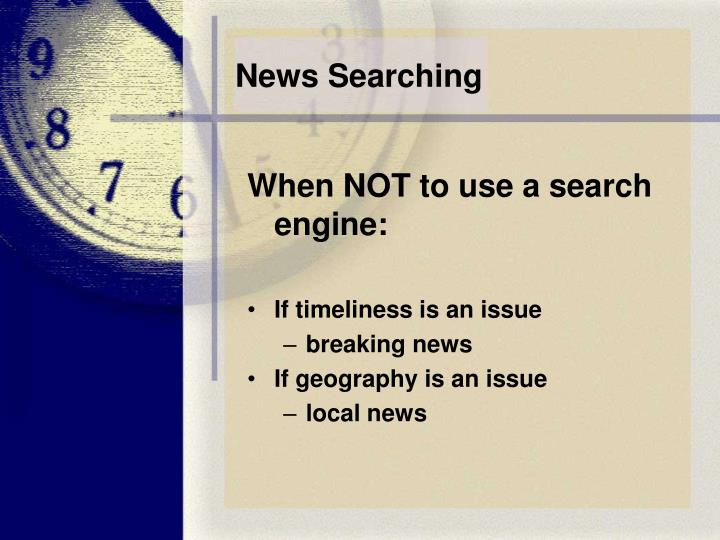 News Searching
