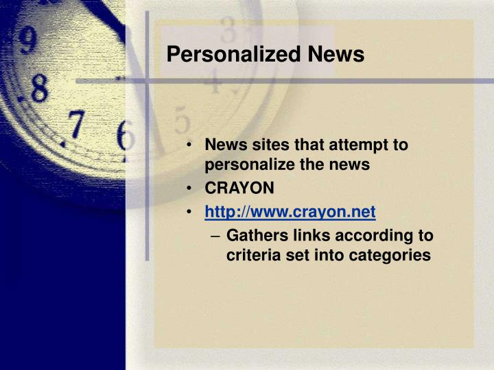 Personalized News