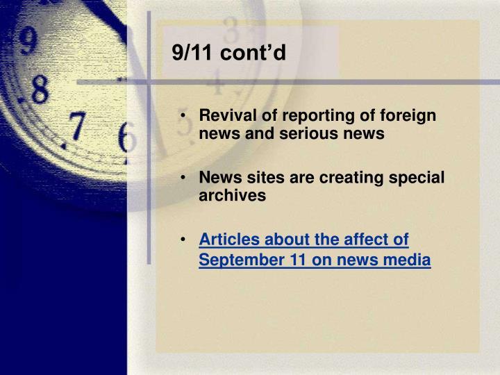 9/11 cont'd
