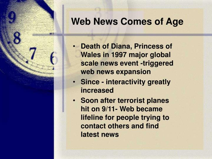 Web News Comes of Age