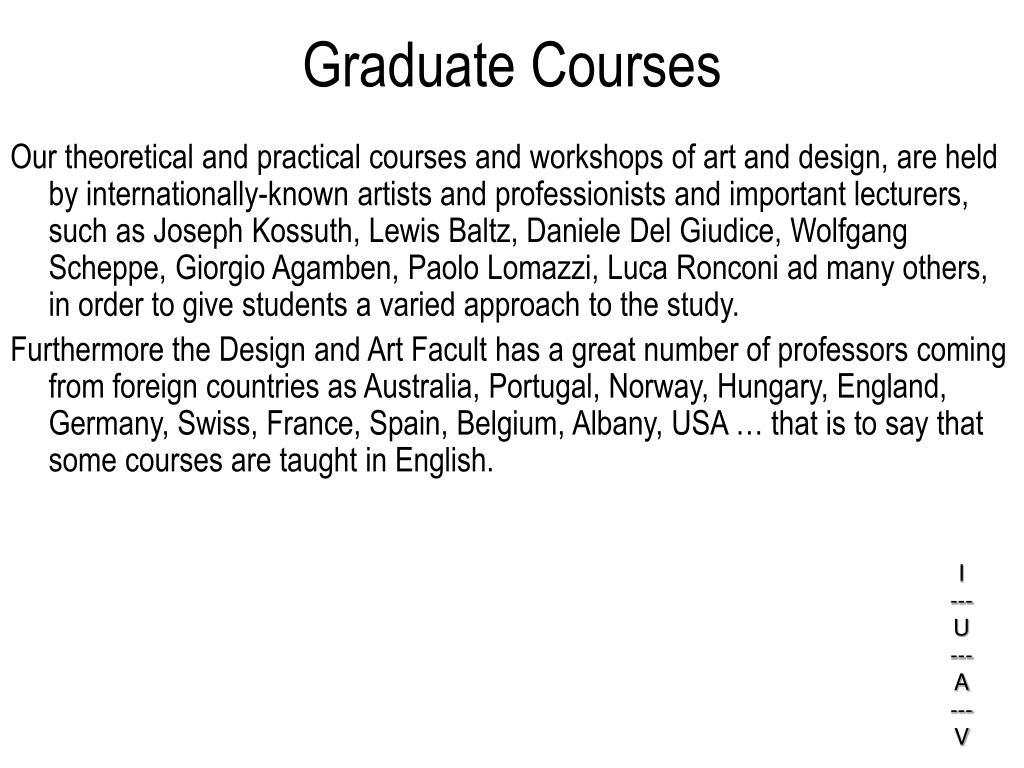 Graduate Courses