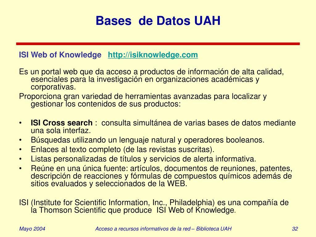 Bases  de Datos UAH