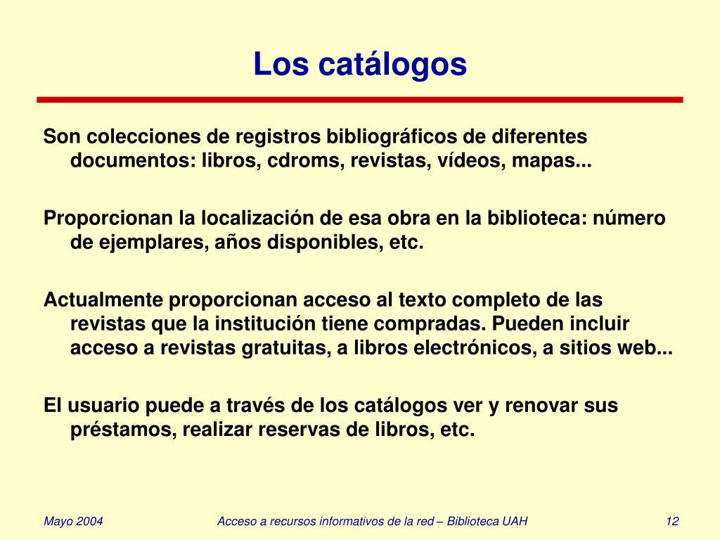 Los catálogos