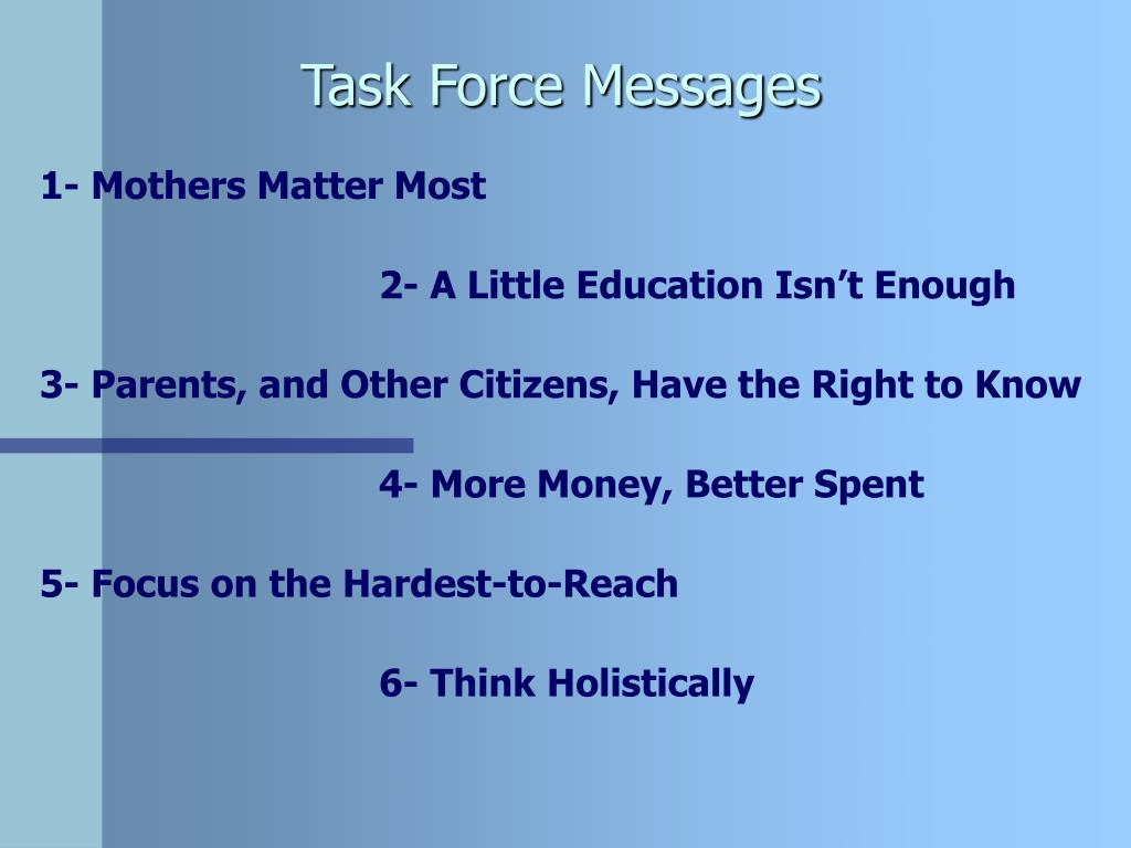 Task Force Messages