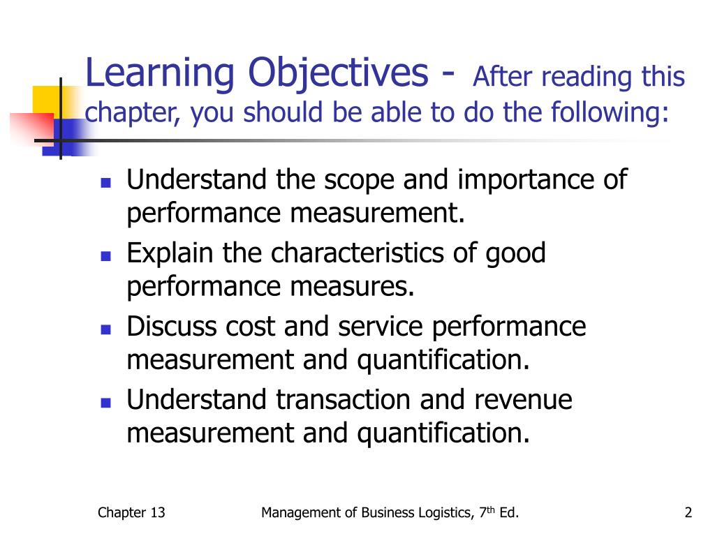 Learning Objectives -