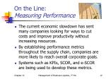 on the line measuring performance