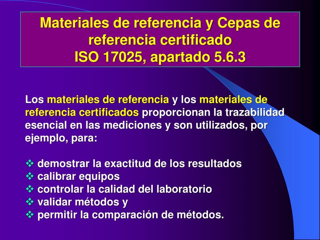 Materiales de referencia y Cepas de referencia certificado